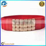 Wholesale Fashion Ladies Wide Elastic Belts with Metal Stud                                                                         Quality Choice