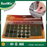 BSTW ISO9001 factory round shape self adhesive felt pads