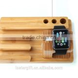 Multifunction handmade wood stand for apple watch , mobile phone stand wood for iPhone for samsung
