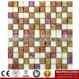 IXGC8-006 Electroplated Color Glass Mix Ceramic Mosaic Tiles for wall mosaic art decoration From Imark