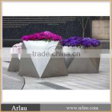 Stainless steel outdoor flower planter for sale