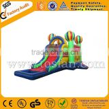 hot air balloon bouncy castle,inflatable combo with slide and water pool A3042