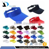 Guangzhou China Factory OEM 100% Cotton Colourful Velcro Buckle Plain Custom Colourful Cheap Sun Visor Hat