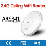 2.4G AR9341 Wireless Ceiling Mobile Wifi Router Network Access Point AP with Inner Antenna for Hotel Restaurant