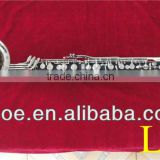 Woodwind musical instrument Bb ABS resin body nickle plated 20 keys Low E bass clarinet--1602N