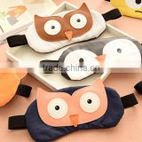 Wholesale korean funny cute animal custom blindfold anti-wrinkle and dark circle comfort travel sleeping cover eye mask