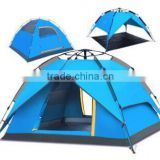New Style Professional High Quality 3-4 Person Waterproof UV Protect Two Door Net Yarn Outdoor Camping Tent