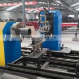 T/slant joint end cut cnc steel tube plasma cutter machine