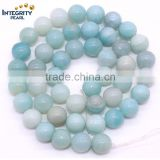 DIY gemstone loose strand 4 6 8 10 12 mm wholesale natural amazonite beads strand