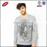 comfortable jersey fabric bulk wholesale crewneck sweatshirt mens hoodies with tattoo print