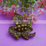 Korean custom pearl flower rhinestone brooch for chair sash decorative
