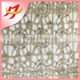 NEW Miracle embroidery lace sequin fabric african tulle high quality for textile material Wedding fabric table cloth