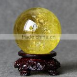 Wholesale nature crystal citrine quartz sphere/ball ornament
