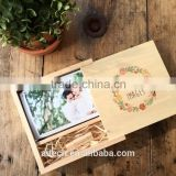 Genuine 4GB-16GB Customized Natural Wooden USB 2.0 Flash Pen Drive And Wood Box with 100% capacity