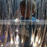 DIY modern hotel lobby chandelier light with side spot glow fibre optic and led power engine