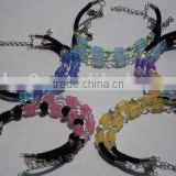 fashion uv checker colour change uv beads bracelet