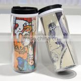 insulated plastic water bottle double wall polymer Sublimation Water Bottle