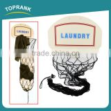 Toprank High Quality Over-Door Hanging Wire Mesh Basketball Laundry Hamper Laundry Net Basketball Hoop