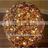 woven colorful large decorative wicker ball