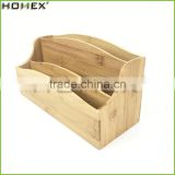 Bamboo Mail Holder with Storage Organizer on Desktop/Homex_FSC/BSCI Factory
