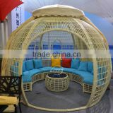 2016 outdoor patio furniture new design relax furniture poly rattan gazebo for hotel and garden