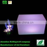 LED attractive plastic rgb remote control garden bench/bench sofa /long bench seat dining