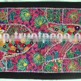 Rare Vintage Recycled Indian Textile Tapestry Fabric - - Indian Handcrafted Table Cover Cum Runner