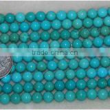 8mm round natural loose turquoise strands