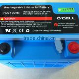 24V 22Ah Lithium Iron Phosphate (LiFePO4) battery pack for medical computer cart with Fuel Gauge