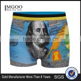 MGOO High Quality Cartoon Print Male Underwear Sexy unisex Boxer Black Jacks Young Teenagers