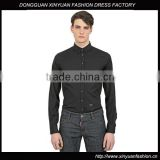 High quality 2016 men business black long sleeve non-ironing shirt