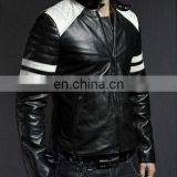 100% Genuine Lambskin Mens Leather Blazer Biker Bomber Jacket