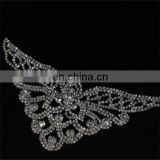 wholesale directly ! Popular unique design flower rhinestone sequin appliques for decoration