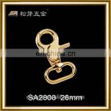 Custom Zinc Alloy Rotating Spring Loaded Clasp, Dog Collar Spring Loaded Clasp, Spring Loaded Trigger Hooks