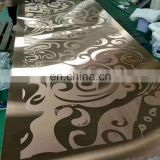 New style practical gold color etched stainless steel sheet