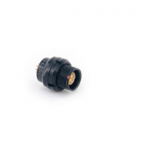 Push-pull self-latching F series 9pin socket connectors (black chromed plated)
