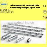 Conical twin screw and barrel for Beier plastic processing machinery