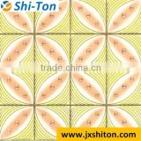 300x300 Leaf design new design in China exterior ceramic tiles flower ceramic floor tile