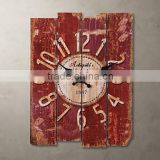 2015 New Products Walden Wholesale Fashion Beautiful Square Shape Wooden Crafts Wall Clock