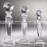 wholesale crystal glass badminton trophy for gifts