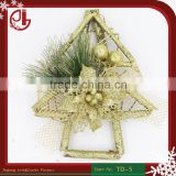 Animated Wooden Christmas Garland Wholesales Christmas Decorations Supplies Artificial Glitter Flowers