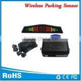 Wireless car parking sensor mini led display with on/off button and metal clip sensors good selling