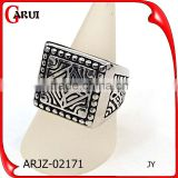 New Arrival Classic design jewelry ring black silver stainless steel signet ring                                                                                                         Supplier's Choice