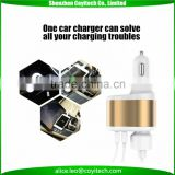 DC 12-24V car battery charger usb and cigarette hole for mobile phones and tablet pc