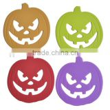 Halloween Pumkin Shape Hot sale FDA and LFGB food grade silicone table mat & silicone placemat                                                                         Quality Choice