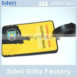 airline traveller customized promotional luggage tag soft pvc luggage tag
