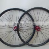 MTB 26er carbon wheelset 22mm depth 24.2mm width built with Novatec 711/712 hubs cn aero 424 spokes