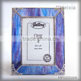 MF020164 china wholesale tiffany style stained glass photo picture frame for gift set and home decoration piece