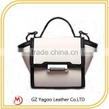 Wholesale PU leather women bags trendy trapeze bags fashion casual lock handbags                                                                                                         Supplier's Choice