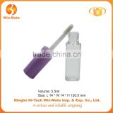 2015 newest light purple square mini clear plastic lip gloss tube packaging